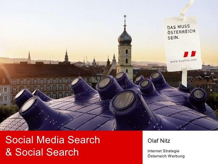 Social Media Search & Social Search Olaf Nitz Internet Strategie Österreich Werbung