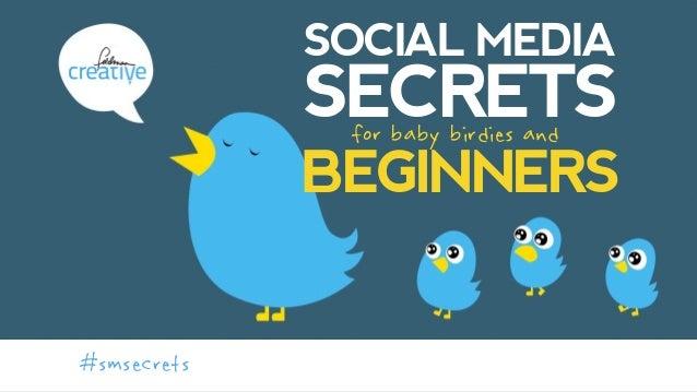 SOCIAL MEDIA SECRETS  for baby birdies and BEGINNERS #smsecrets