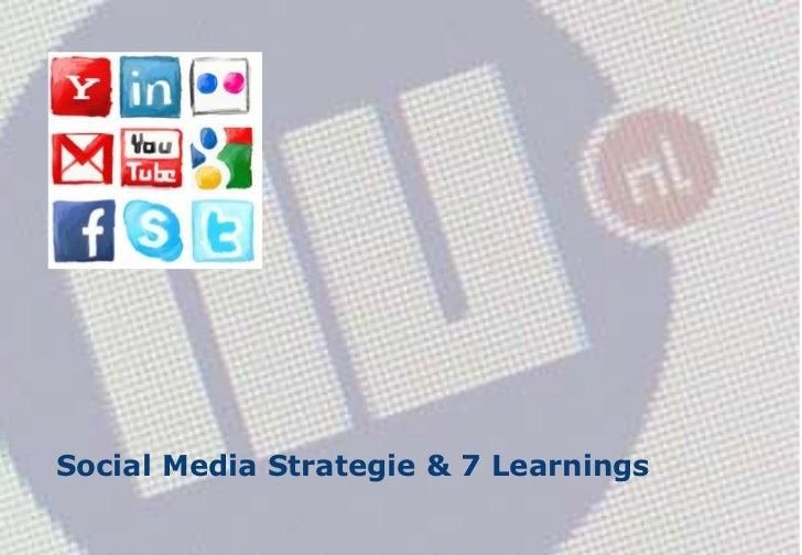 Social Media Strategie & 7 Learnings