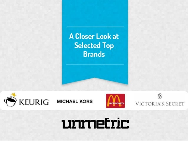 A Closer Look at Selected Top Brands  SO
