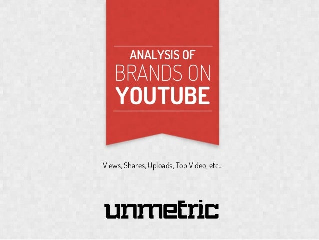 ANALYSIS OF  BRANDS ON  YOUTUBE  SO  Views, Shares, Uploads, Top Video, etc...