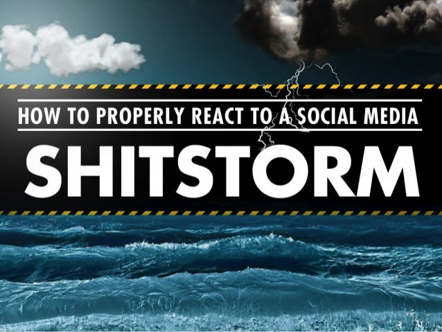 Social Media shitstorm scale