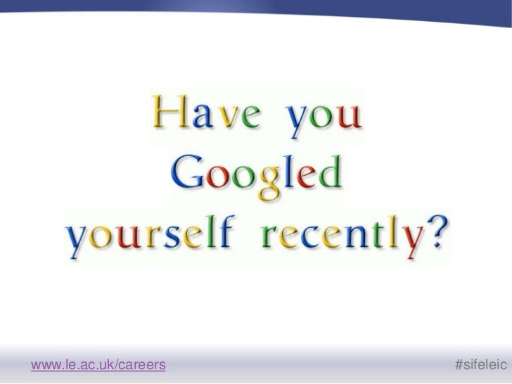 Using Social Media to develop a personal brand - SIFE 2011 Slide 3