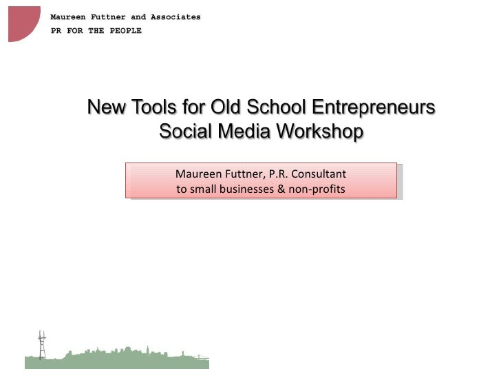 Maureen Futtner, P.R. Consultant to small businesses & non-profits