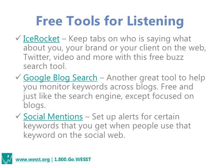 Free Tools to Boost Your ProductivityMost widely used: TweetDeck.com,HootSuite.com, SproutSocial.com,Social OomphSchedulin...