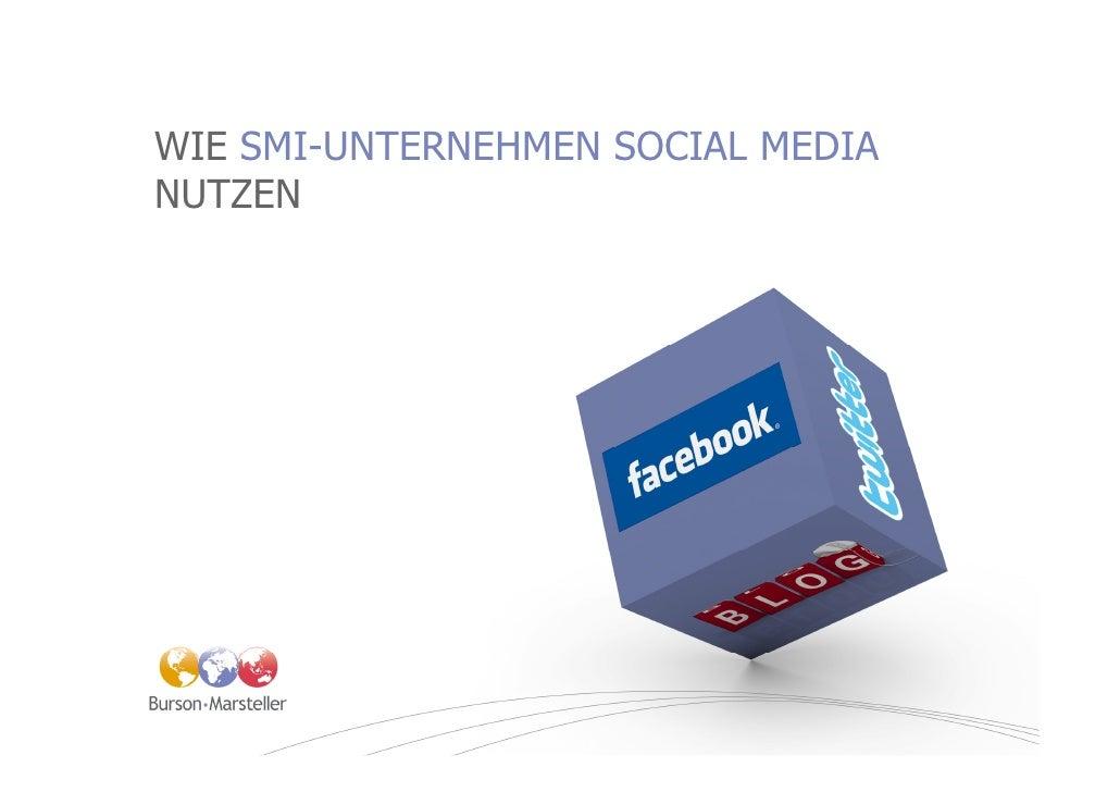 WIE SMI-UNTERNEHMEN SOCIAL MEDIA NUTZEN