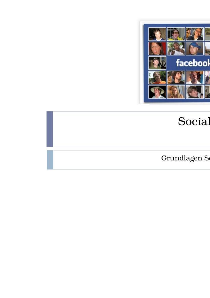 Social MediaGrundlagen Social Media
