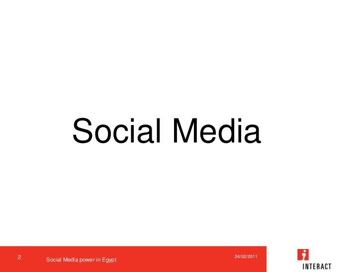 Social media sparking the egyptian revolution in 2011 Slide 2