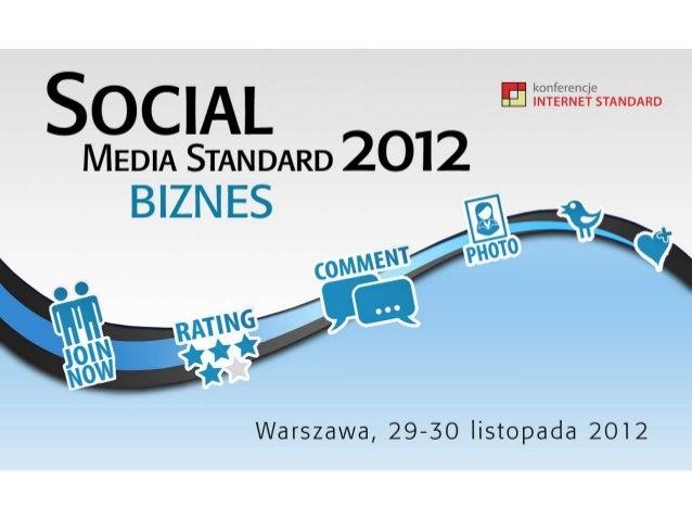 Social Media Standard 2012 Biznes
