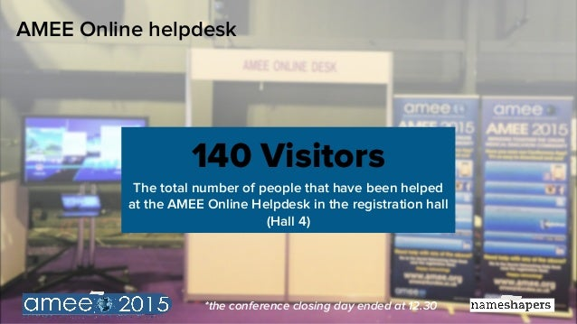 Social media statistics for the AMEE 2015 conference #amee2015 (Wednesday 9 September, 2015) Slide 2