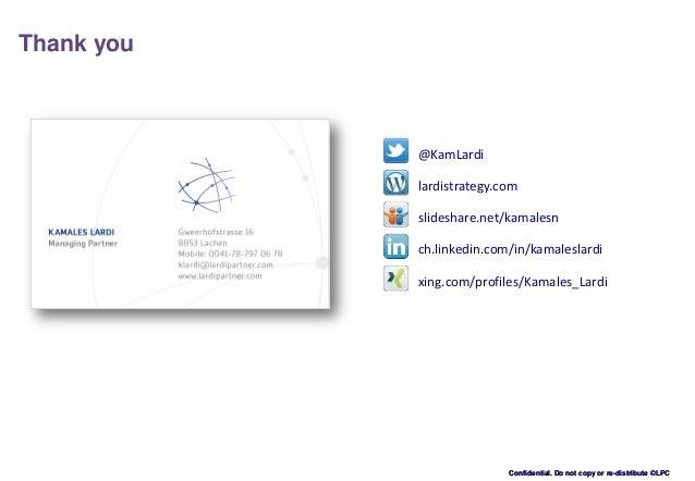 Confidential. Do not copy or re-distribute ©LPCConfidential. Do not copy or re-distribute ©LPC Thank you @KamLardi ch.link...