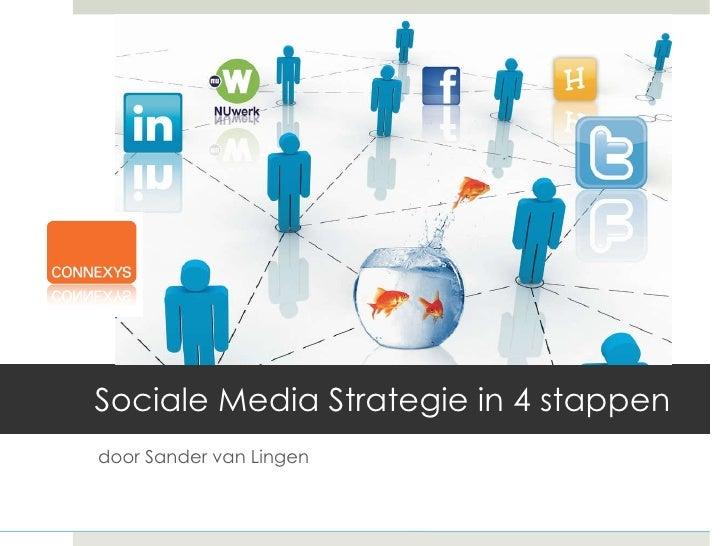 Sociale Media Strategie in 4 stappen d oor Sander van Lingen