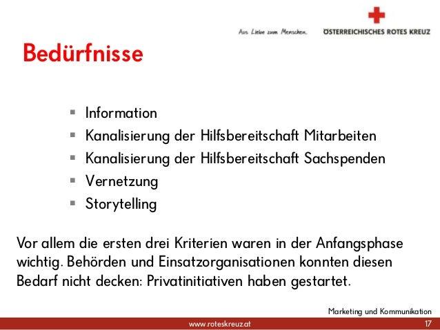 www.roteskreuz.at Bedürfnisse  Information  Kanalisierung der Hilfsbereitschaft Mitarbeiten  Kanalisierung der Hilfsber...
