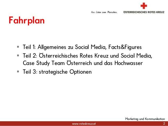 www.roteskreuz.at 2 Marketing und Kommunikation Fahrplan  Teil 1: Allgemeines zu Social Media, Facts&Figures  Teil 2: Ös...