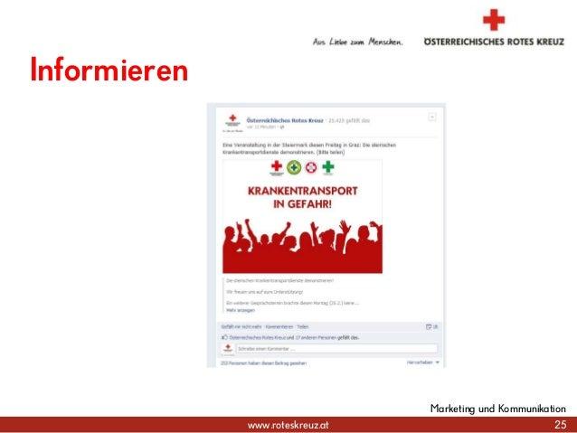 www.roteskreuz.at 25 Marketing und Kommunikation Informieren