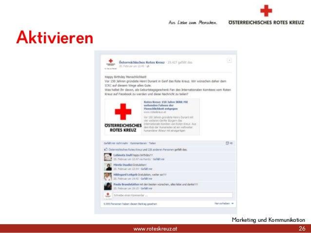 www.roteskreuz.at 26 Marketing und Kommunikation Aktivieren
