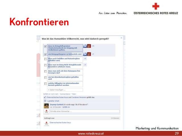 www.roteskreuz.at 29 Marketing und Kommunikation Konfrontieren