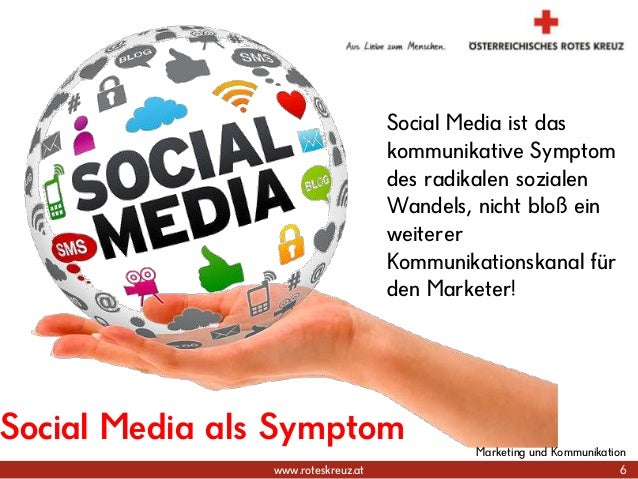 www.roteskreuz.at Social Media als Symptom Social Media ist das kommunikative Symptom des radikalen sozialen Wandels, nich...
