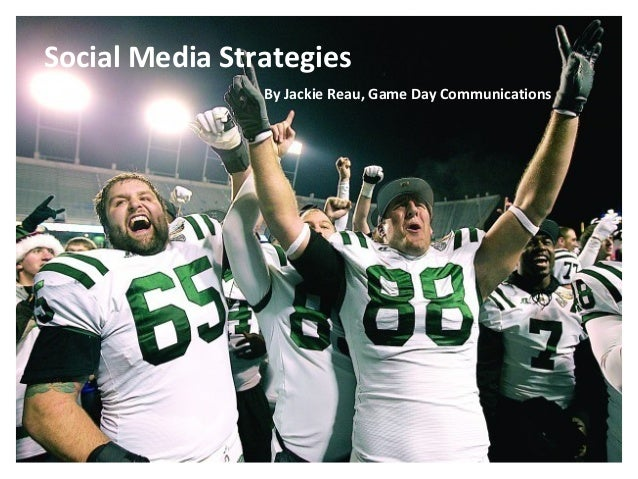 $ocial Media & $ports: Monetizing for Sponsorship By Jackie Reau, Game Day Communications Social Media Strategies By Jacki...