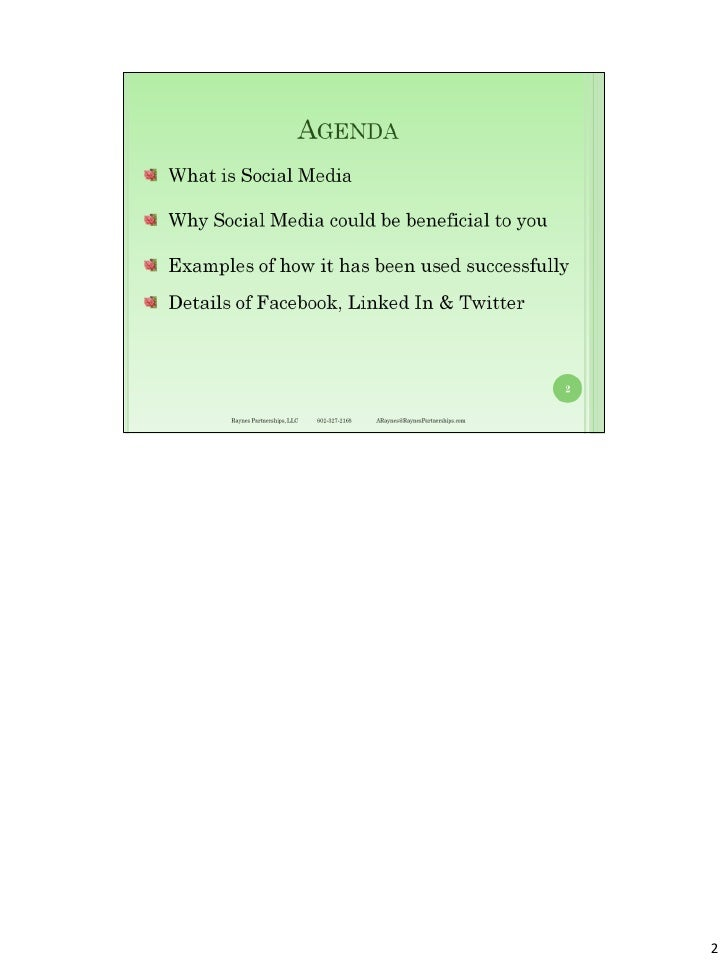 Social media strategies for small business   notes pages Slide 2