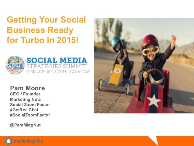 Getting Your Social Business Ready for Turbo in 2015! Pam Moore CEO / Founder Marketing Nutz Social Zoom Factor #GetRealCh...