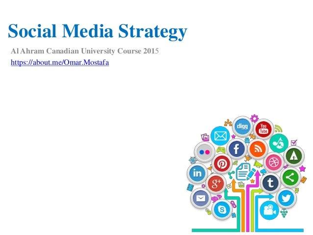 Social Media Strategy Al Ahram Canadian University Course 2015 https://about.me/Omar.Mostafa