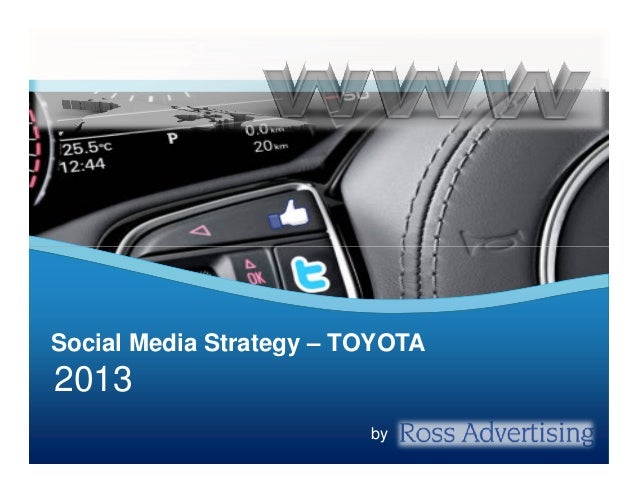 Social Media Strategy – TOYOTA  2013 by