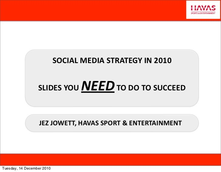 Social media strategy and slides to succeed