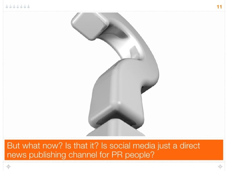 11But what now? Is that it? Is social media just a directnews publishing channel for PR people?