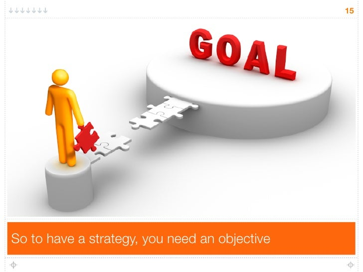 15So to have a strategy, you need an objective