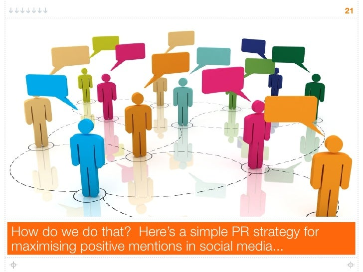 21How do we do that? Here's a simple PR strategy formaximising positive mentions in social media...