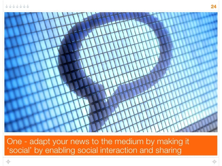 24One - adapt your news to the medium by making it'social' by enabling social interaction and sharing