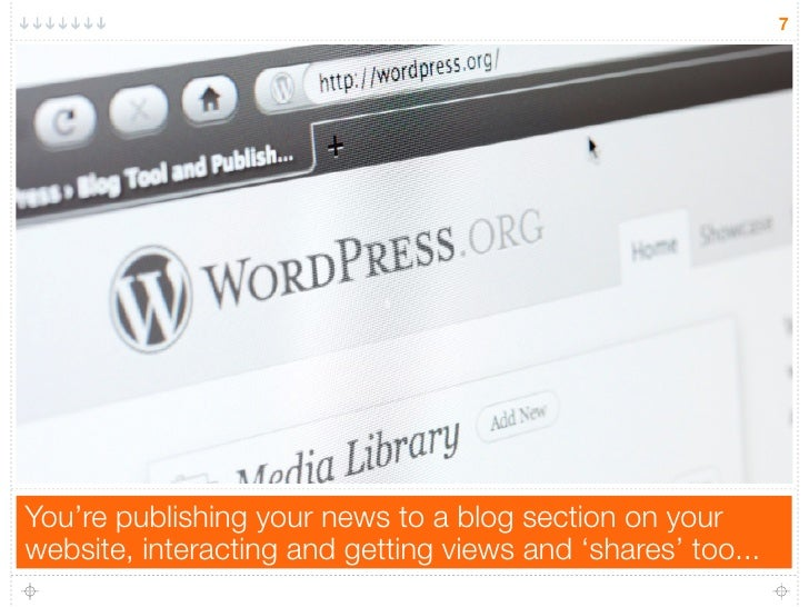 7You're publishing your news to a blog section on yourwebsite, interacting and getting views and 'shares' too...