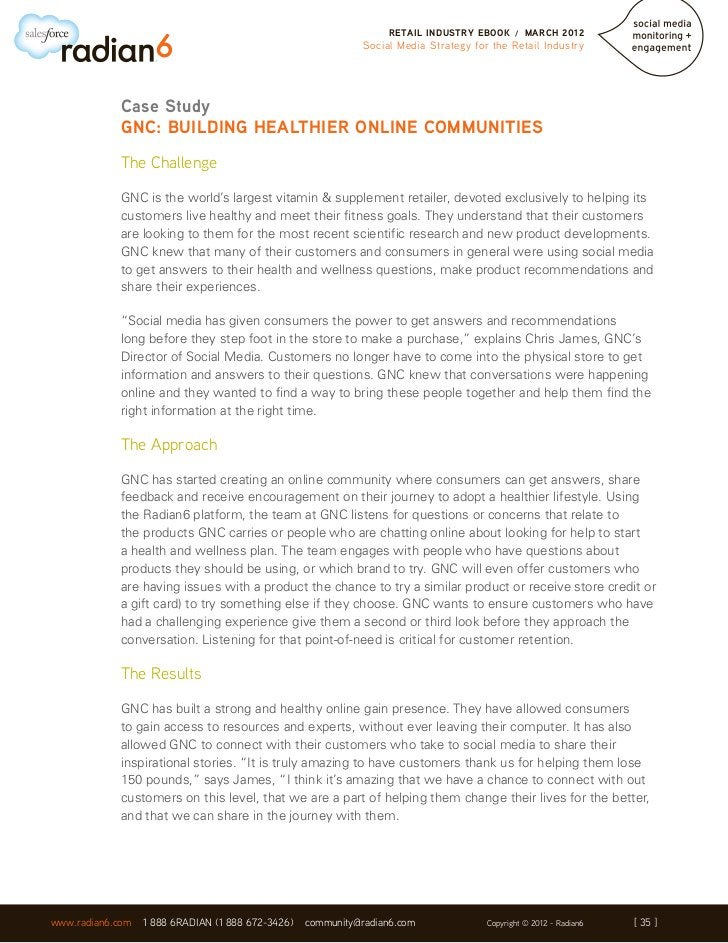 RETAIL INDUSTRY EBOOK      /   MARCH 2012                                                              Social Media Strate...