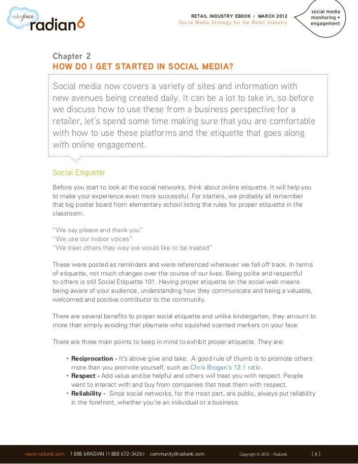 RETAIL INDUSTRY EBOOK      /   MARCH 2012                                                               Social Media Strat...