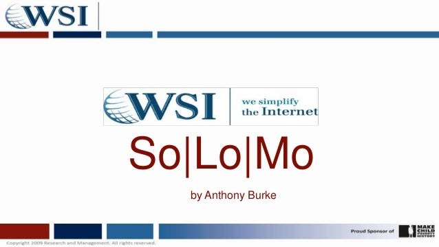 So Lo Mo  by Anthony Burke