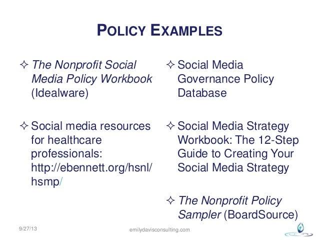 Social Media Success Purpose Plans Policy