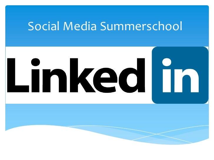 Social media summerschool20 Linkedin nl