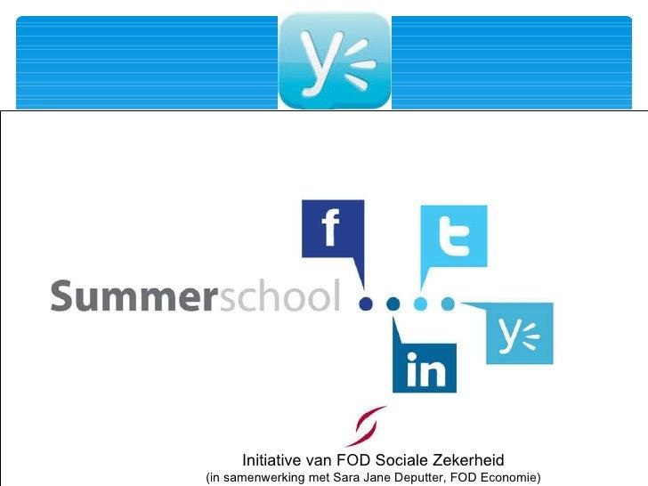 Initiative van FOD Sociale Zekerheid (in samenwerking met Sara Jane Deputter, FOD Economie)
