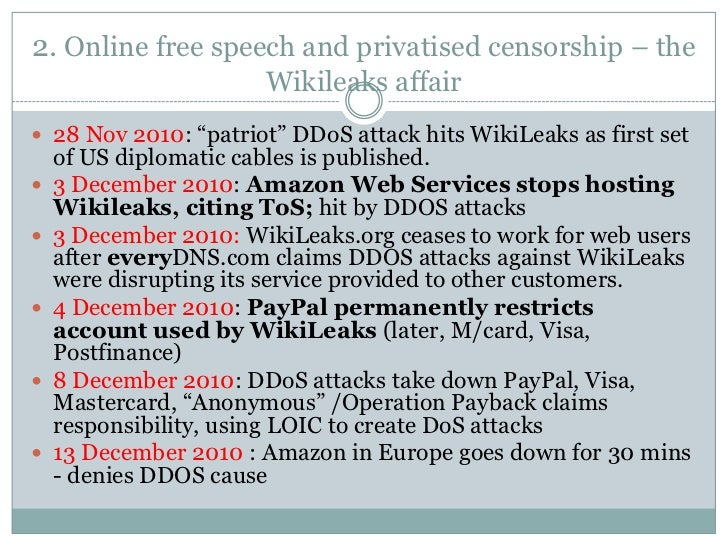 an argument against the governments implementation of censorship in the internet Internet censorship is seen as a form of control, and all other forms of mass media, including tv and radio, have specific administrative controls and regulations in place, which means that the web should be no different.