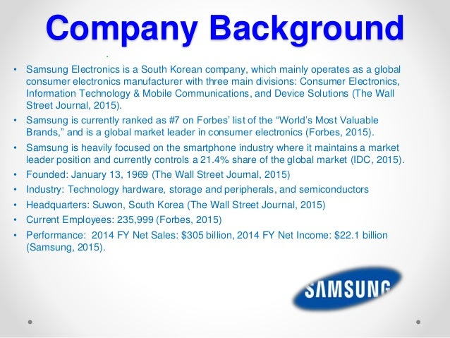samsung company analysis Samsung electronics co ltd stock price, stock quotes and financial overviews from marketwatch.