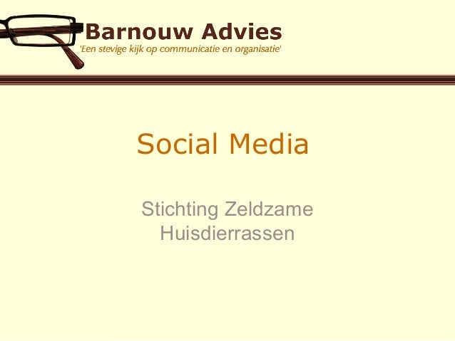 Social Media Stichting Zeldzame Huisdierrassen