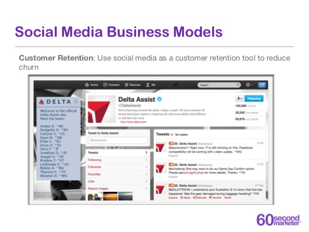 Social Media Business Models Lead Generation: Drive leads to a website and re-market to those leads, ultimately converting...