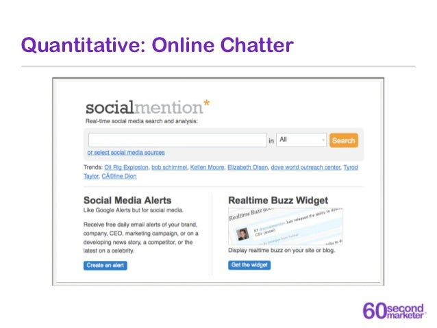 Quantitative: Leads Generated                           60 Second                        Marketer Website        E-Newslet...