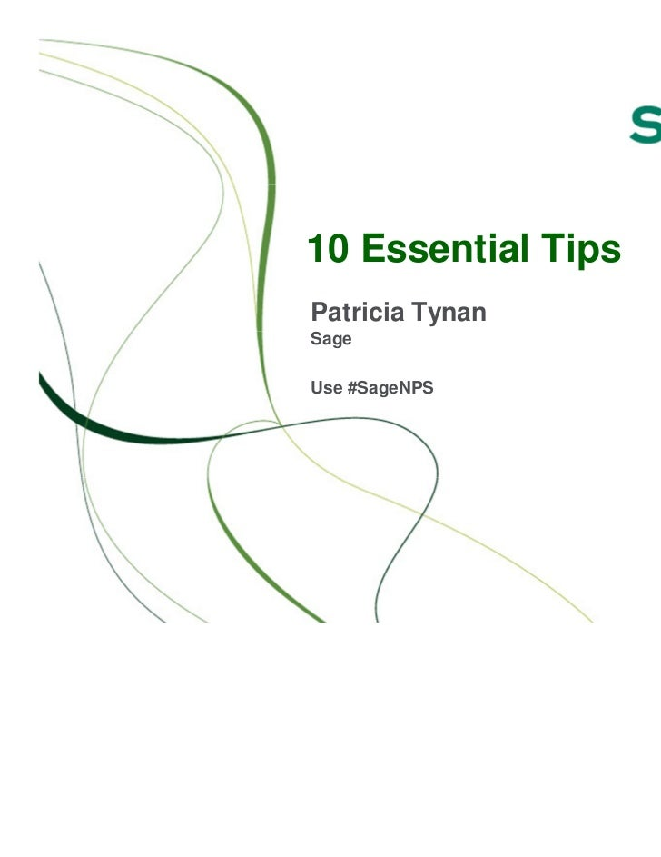 10 Essential TipsPatricia TynanSageUse #SageNPS