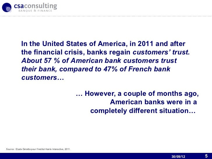 Nexity and the U.S Banking Industry