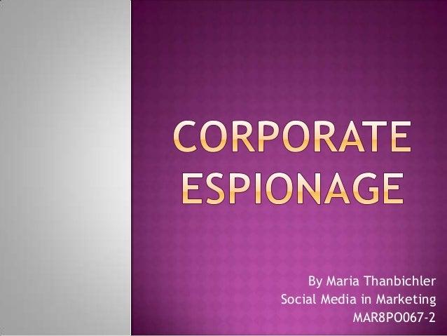 By Maria Thanbichler Social Media in Marketing MAR8PO067-2