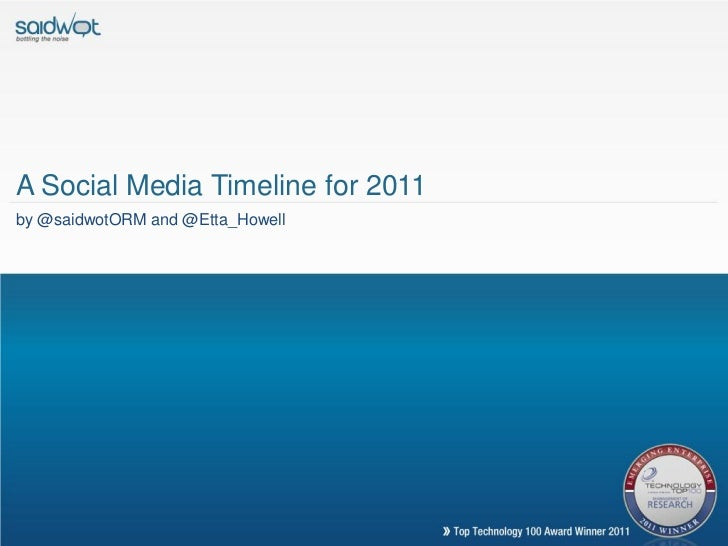 A Social Media Timeline for 2011by @saidwotORM and @Etta_Howell