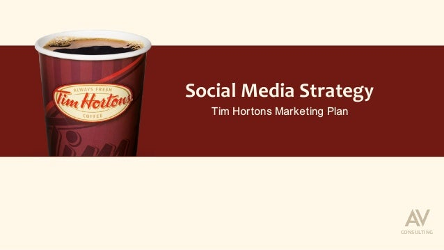 Social	Media	Strategy	 Tim Hortons Marketing Plan CONSULTING