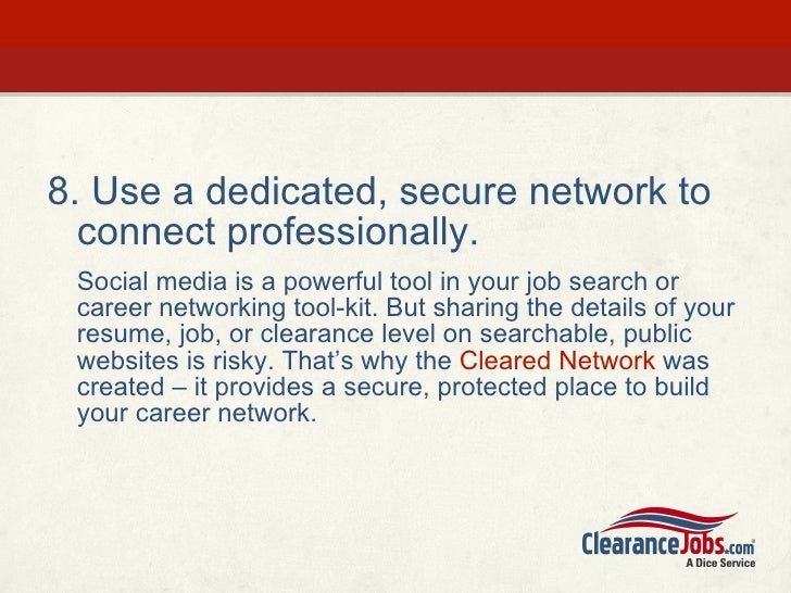 security clearance level on resume